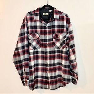 TIMBER TRAIL Men's Plaid Flannel Button Down Shirt